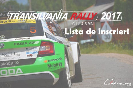 lista inscrieri transilvania rally