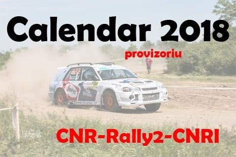 Calendarul provizoriu pentru Campionatul National de Raliuri 2018