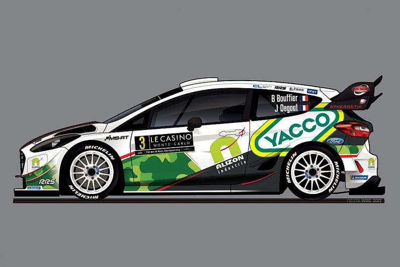 Bryan Bouffier va pilota al treilea Ford de la M-Sport in WRC