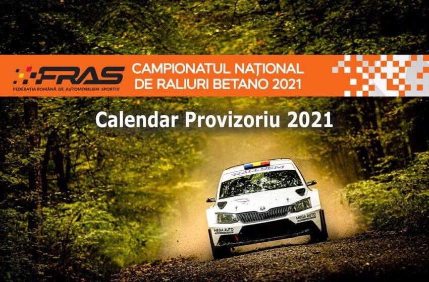 Calendar Provizoriu a Campionatului National de Raliuri 2021