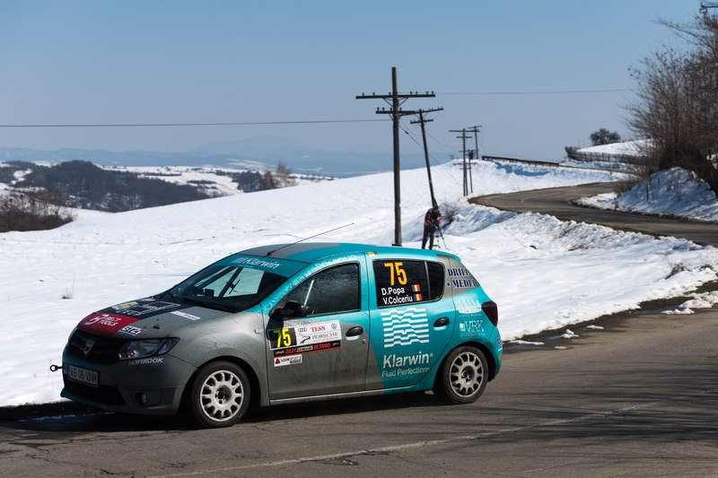 Dragos Popa si Vlad Colceriu castiga prima etapa a Cupei Dacia , la Raliul Brasovului